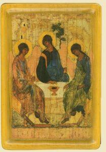 Пресвята Трiйця автор Андрiй Рубльов, (XV ст.)