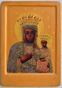 Копiя чудотворної iкони Гошiвської Божої Матерi (XVII cт.)