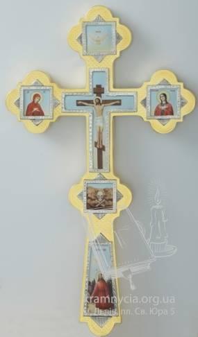 Хрест напрестольний №6-10 (золочення-нікель)