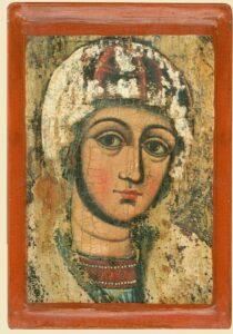 Фрагмент ікони Богородиці з Потелич, (XVІІ ст.)