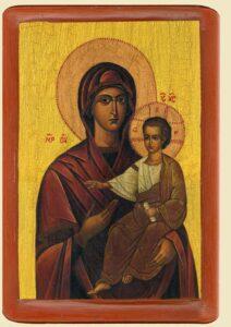 Богородицi Одигiтрiя iконописця Ювеналiя Мокрицького